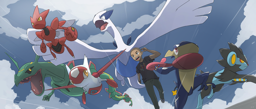 COMMISSION: Pokemon Team by mark331