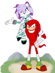 Boom!Electra and Knuckles by Aimorragia