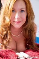Camille Crimson - Redhead Cleavage and Pearls by chloemorgane