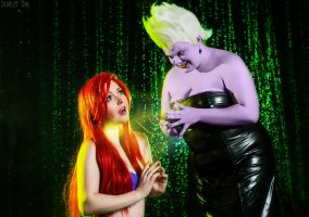 Ariel and Ursula - The little mermaid 2 by Matsu-Sotome