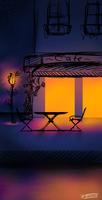 Cafe at Night ~ by FireEagle2004