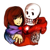 Frisk|Papyrus by kiacii-official