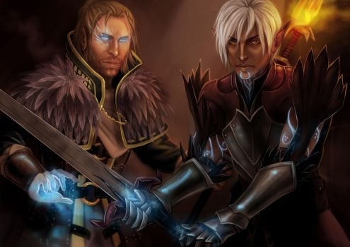 Fenris and Anders by YoungGirlBlues