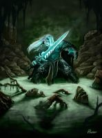 Arthas and Frostmourne by PhanouArt