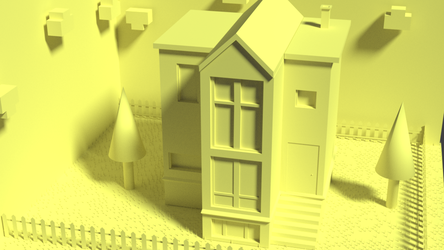 Low Poly House Clay Render by TallPaul3D