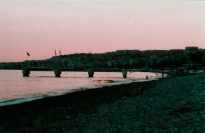 Baie des Anges at dusk by sunnie