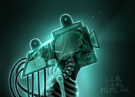 I JUST WANTED TO DRAW A SKELETON by CzalCzalMemlak