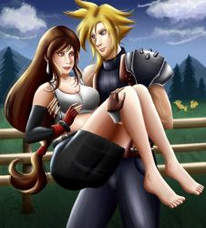 Cloud x Tifa - Love in the Mountains by Mayleth
