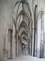 Gothic cathedral by Alphirin