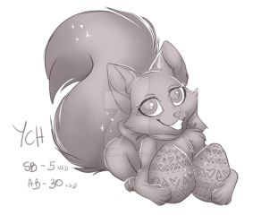EASTER CHIBI FOX YCH - OPEN by CottonCandyTail