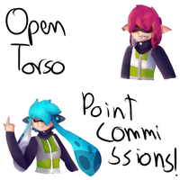 Open torso point commissions! by The-7th-Demon