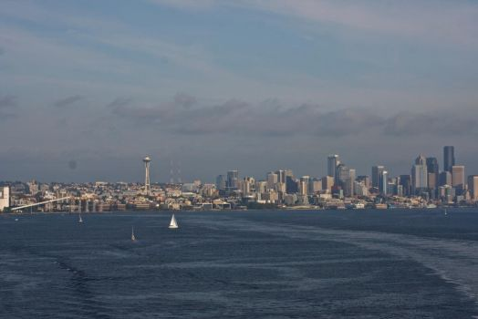 Seattle Skyline Aboard the Star Princess by thzinc