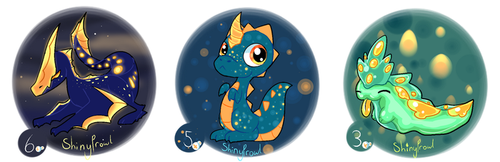 Adoptable Batch Blue - Green (CLOSED) by Shinyprowl