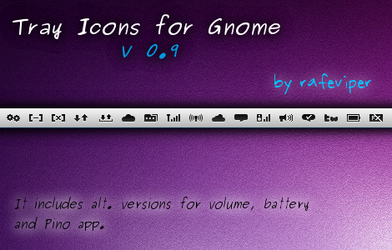 Tray Icons for Gnome by rafeviper