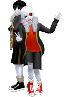 MMD Sans Underfell models [DL+] by poi789