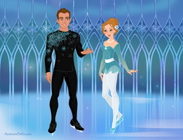 Doll-Enthusiasts January Contest: Ice Skaters by Lonewolf-Sparrowhawk