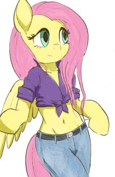 Fluttershy-jeans by Montano-Fausto