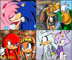 My Favorite Sonic Couples by tuffpuppy101