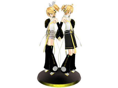MMD Kagamine Rin and Len Append Figure by LilMusicLuva