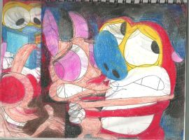 Sketch Pad Ren and Stimpy 8 by RozStaw57