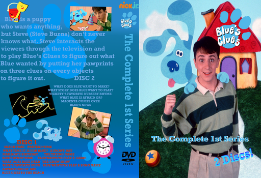 Blues Clues The Complete 1st Series DVD Cover by Trainboy55