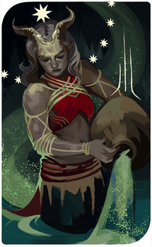 Ciara Adaar Tarot Card by HeathWind