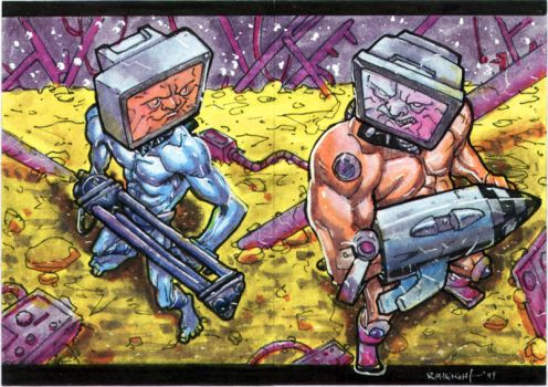 Apex Twins Sketch Cards by RAHeight2002-2012