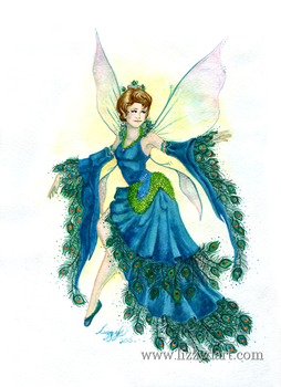 Peacock Fairy by Lizzy-D