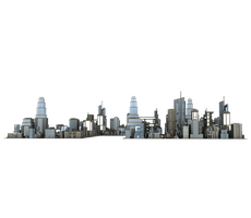 Large city buildings #3 png cut-out free stock by madetobeunique