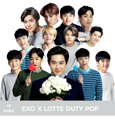 EXO for Lotte Duty Free Pop PNG PACK by Bears-and-Cookies
