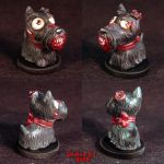 Zombie Scottish Terrier ooak by Undead-Art