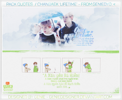 PACK QUOTES CHANBAEK 'LIFETIME' fr.Genie by GenieDyo