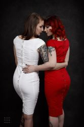 Red and White by BlackRoomPhoto