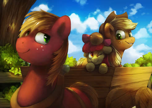 A Cartload of Apples by AnticularPony