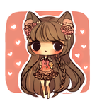 Pink Peony Lace Adoptable (OPEN) by mochatchi