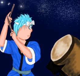 Hoshu the Taiko Drummer Finished by princessofvernon