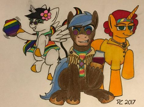 Fan Art: My Little Hippies by HVNSNTSOLDIER