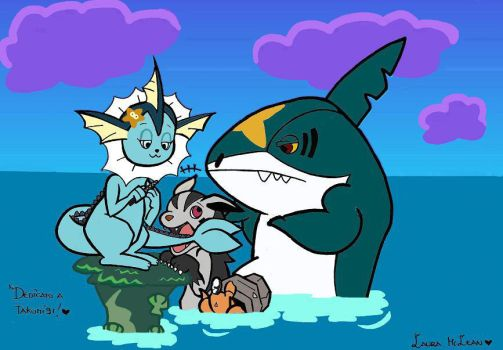 Zig and Sharko in Pokemon version by Laura-McLean