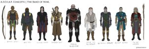 The Band of Nine. ASOIAF Concept Art | WIP by drafturgy