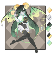 -:Succubus and Fluffy demon Auction CLOSED by Mizu-Kumi