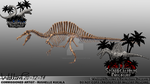 Prehistoric Preserve: Spinosaurus Side View by TheDragonofDoom