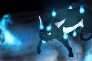 Blue Exorcist Cats: Rin Okumura by nightwindwolf95