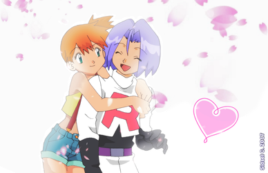 Misty and James [Pokemon//GreenEyesShipping] by SidselC