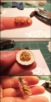 1:12 Heart Shaped Chocolate-Chip Cookies by TinyDelights