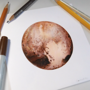 Pluto Study by CosmosKitty