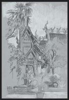 Temple in Chiang Mai. by mdesplanteurs