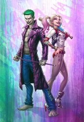 The Joker and Harley Quinn by PatrickBrown