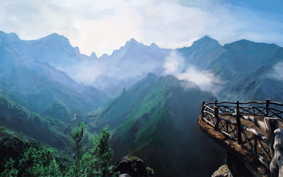 View of the Mountains by AldySyaoran