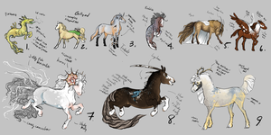 color day parade ADOPTABLES 2/9 open by empluvie