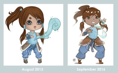 Draw this again: Korra by Avvoula